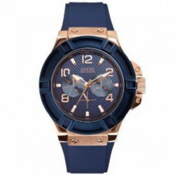 Reloj Guess W0247G3 Hombre Azul Caucho Multifunción