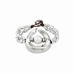 Cadena y colgante Ippocampo jewels IPPE15 Mujer Plata Oro rosa Perla
