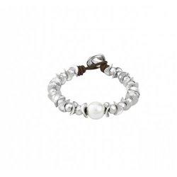 Cadena y colgante Ippocampo jewels IPPE18 Mujer Plata Marrón Perla